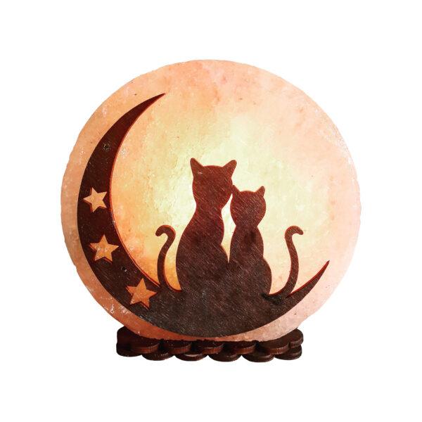 Соляна лампа «Коти на місяці» 3-4кг