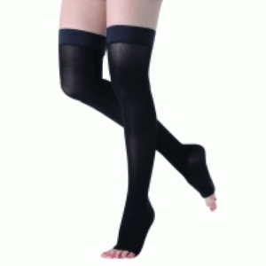 Панчохи компресійні – ARMOR ARS02 (чорні з відкритим носком)