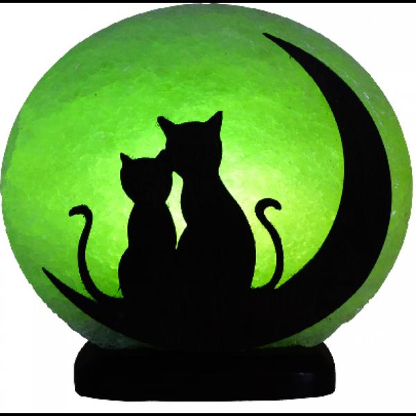 Соляна лампа «Коти на місяці»