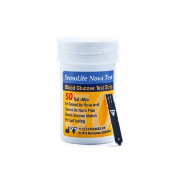 Тест-смужки для глюкометра (SensoLite NovaTest) – 50 шт.