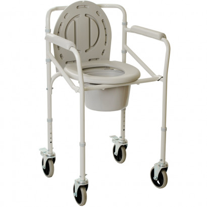 Складаний стілець-туалет на колесах OSD-2110JW
