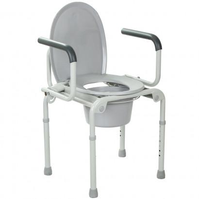 Сталевий стілець-туалет з відкидними підлокітниками OSD-2108D
