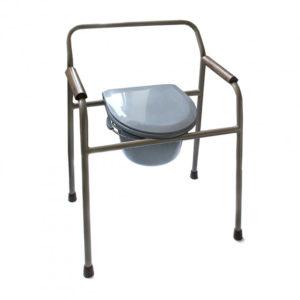 Крісло туалет нерегульоване стальне Преміум МЕДОК
