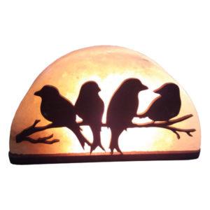 """Соляна лампа """" Пташки на гілці"""" 1-2кг"""